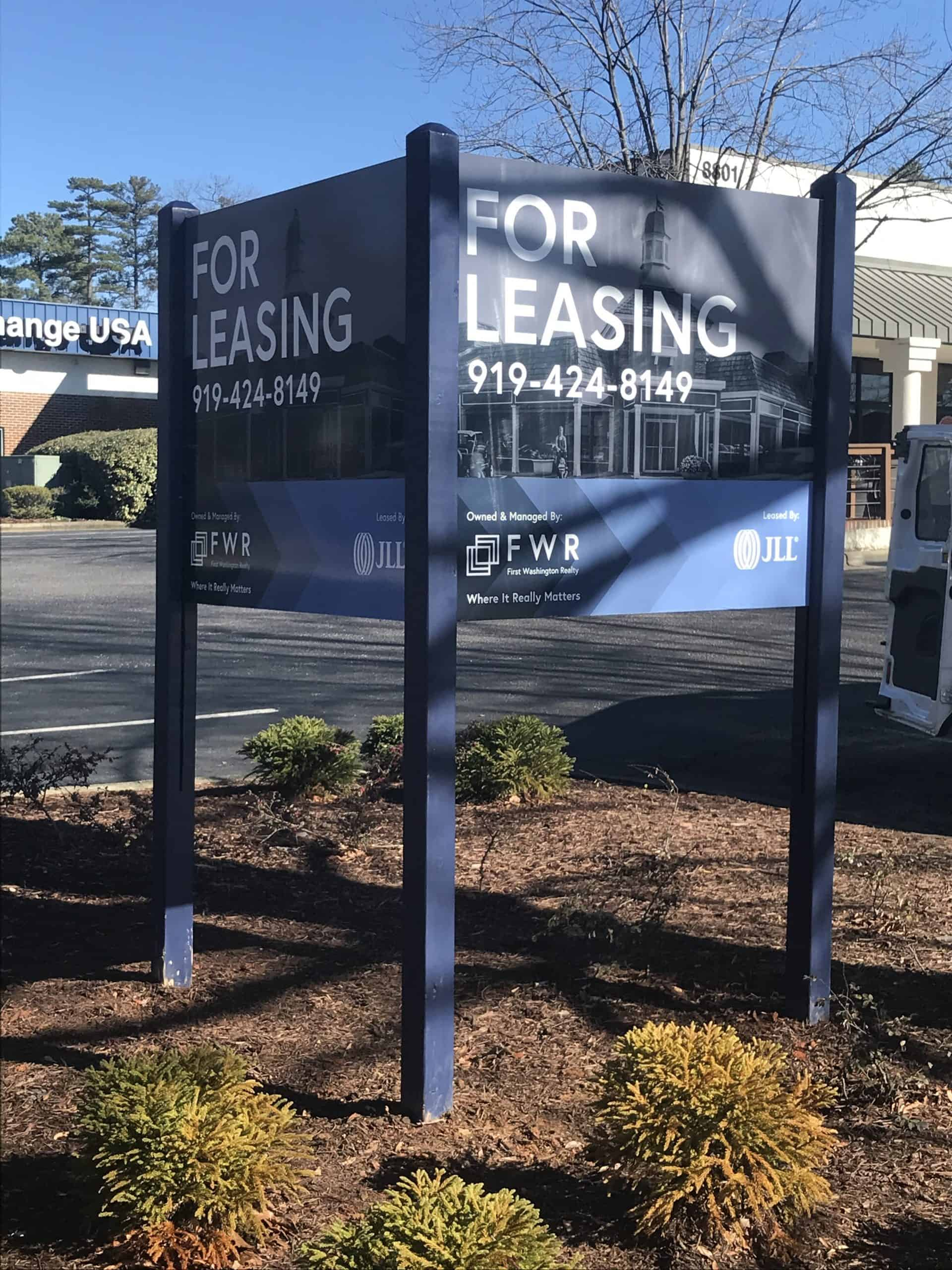 Commercial real estate sign installation