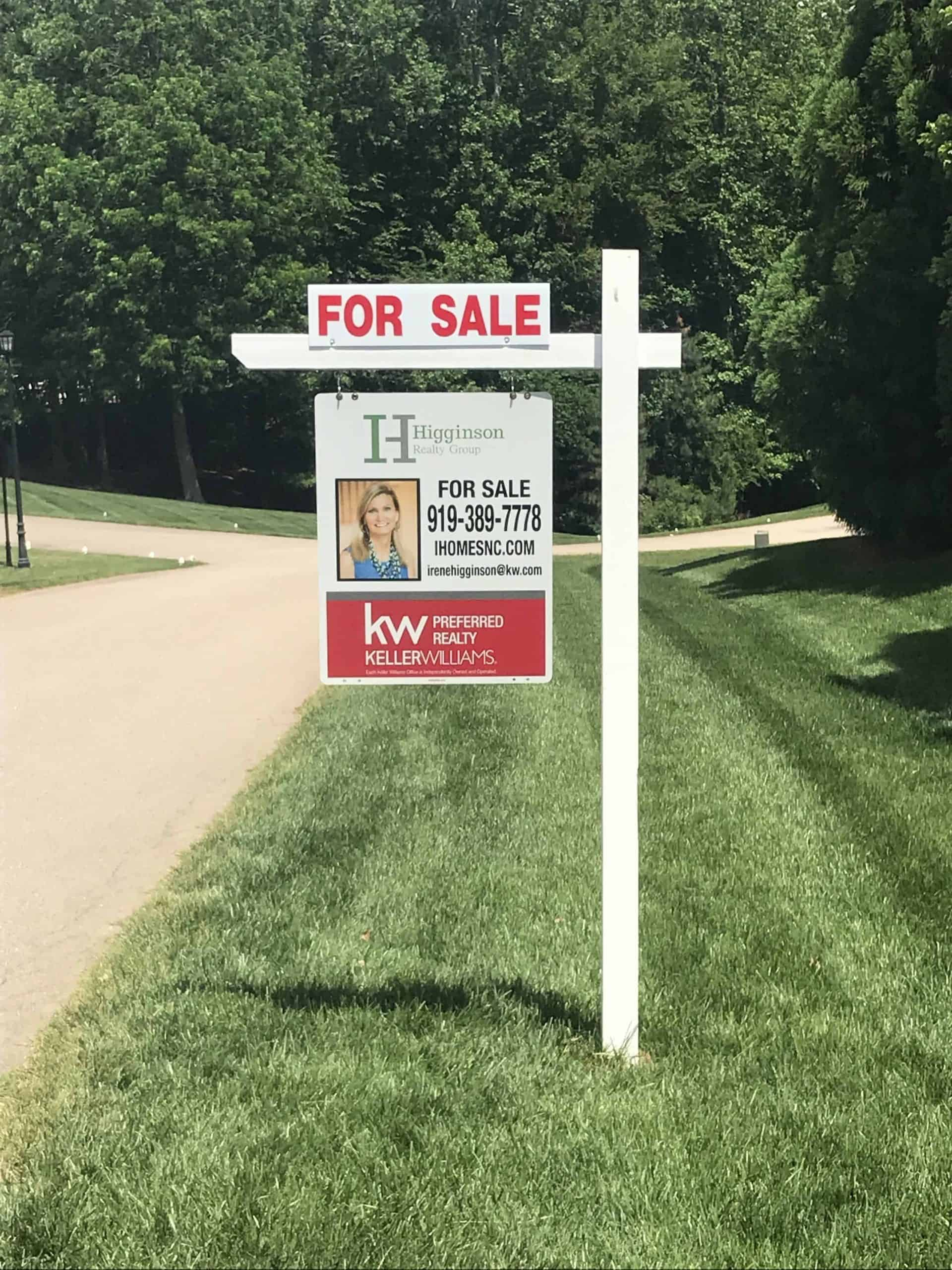 Residential Real estate sign installation